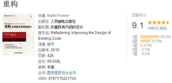 重构 改善既有代码的设计