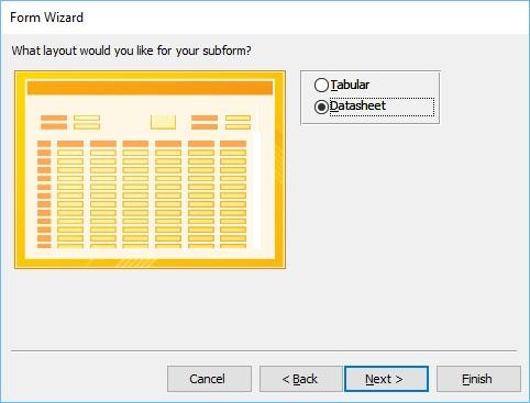 Datasheet Form