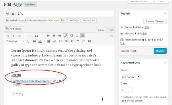 wordpress教程之 WordPress 添加链接