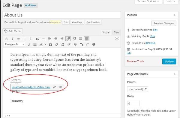wordpress教程之 WordPress 编辑链接