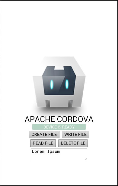 Cordova File Read