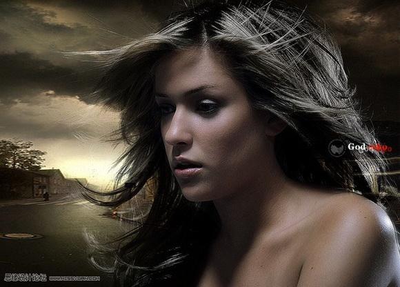 Photoshop滤镜抠出美女散乱的头发