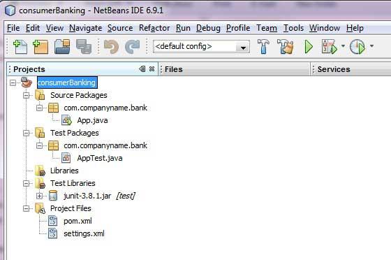 Maven project in NetBeans.