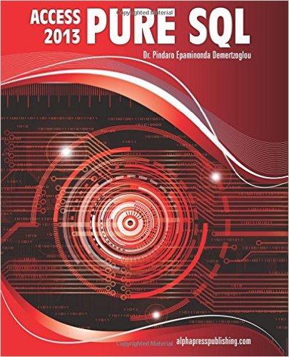 的MS Access 2013纯SQL