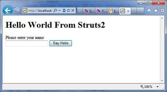 你好世界Struts4