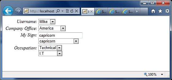 Struts的选择UI标签