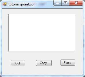 VB.Net剪切,粘贴,复制示例