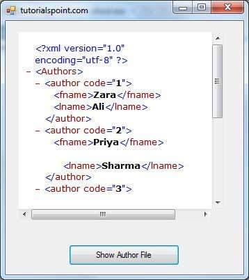 VB.Net XML处理示例2