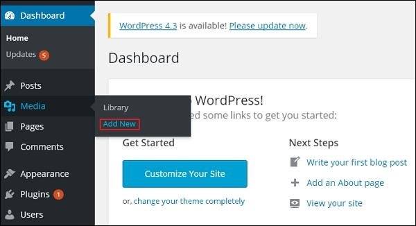 wordpress教程之 WordPress 添加媒体
