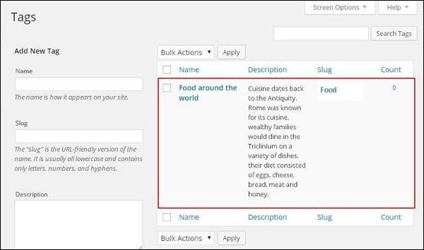 wordpress教程之 WordPress添加标签