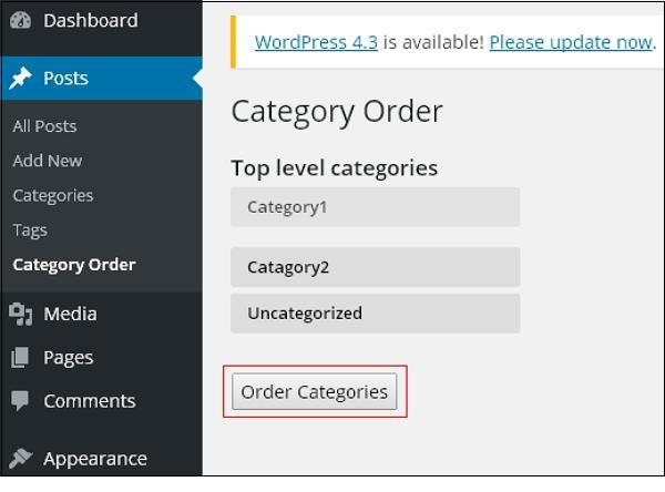 wordpress教程之 WordPress 分类排序