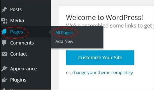 wordpress教程之 WordPress 删除页面