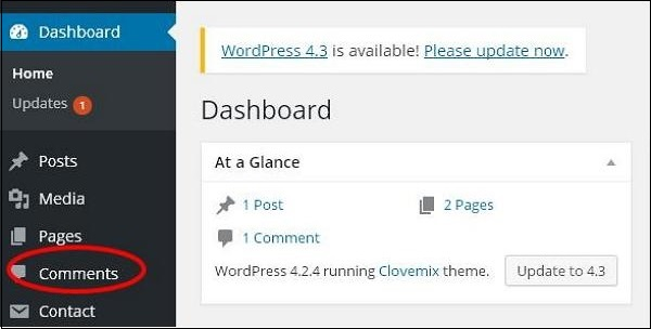 wordpress教程之 WordPress 编辑评论