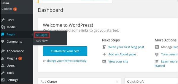 wordpress教程之 WordPress 编辑页面