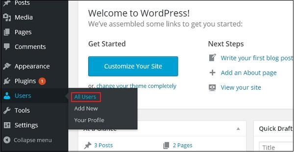 wordpress教程之 WordPress 编辑用户