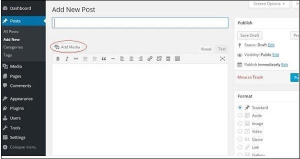 wordpress教程之 WordPress 插入媒体