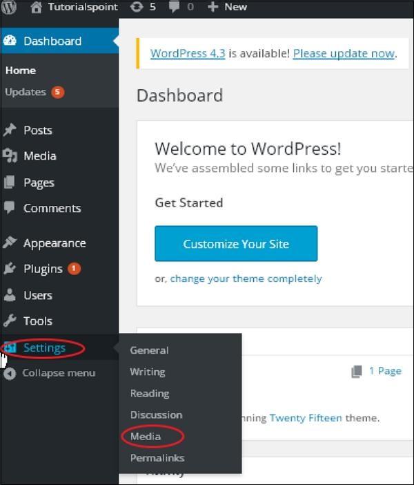 wordpress教程之 WordPress 媒体设置
